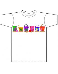 Camiseta personalizada infantil Buckets
