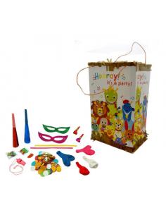Piñata con cositas para interior