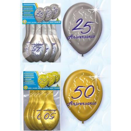 Globos para celebrar bodas de oro o de plata