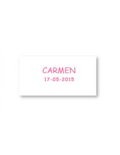 Tarjeta personalizada para los detalles de comunión