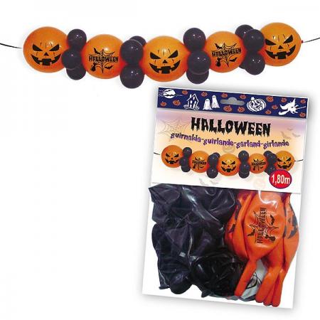 Guirnalda de globos para decoración en la fiesta de Halloween