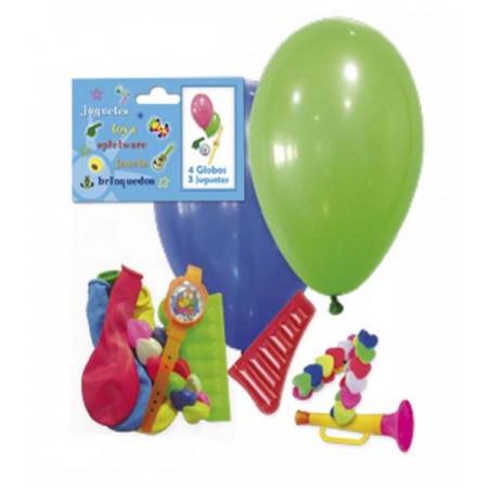 Bolsa globos y juguetes para piñatas
