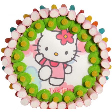 Tarta de chuches Hello Kitty