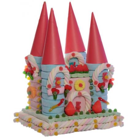 Tarta de deliciosas nubes con forma de castillo de Princesas