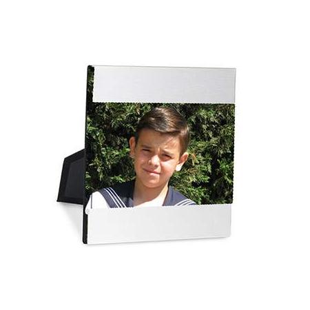 Marco de fotos en aluminio con cristal