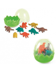 Pack de 7 gomas de borrar con formas de dinosaurios