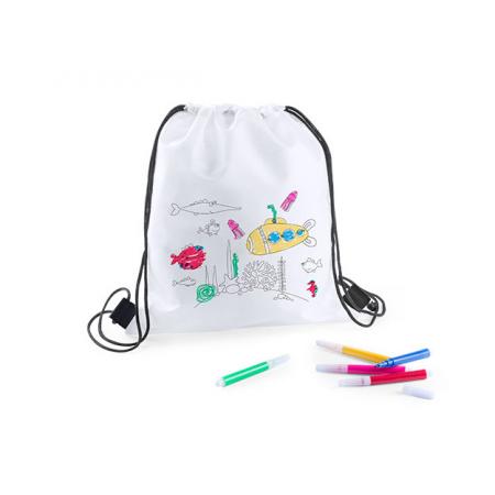 Mochila infantil para colorear y rotuladores
