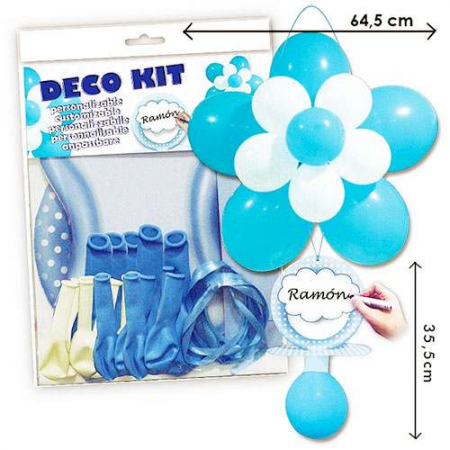 Kit globos para decorar baby shower o bautizos en azul