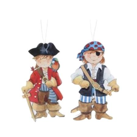 Imán piratas en madera