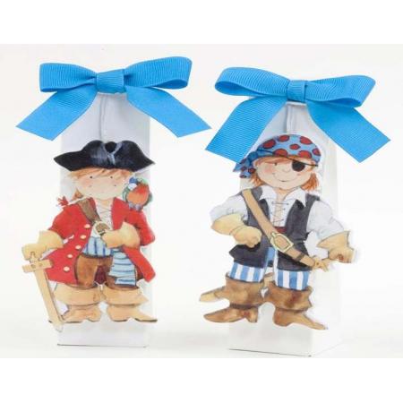 Imán piratas en madera con caramelos