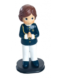 Muñeco para la tarta Primera Comunión niño con casaca azul