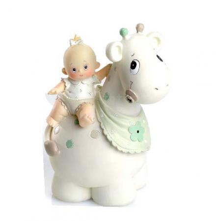 Huchas Para Bebes.Figura Tarta Hucha Bautizo Nina Bebe Jirafa