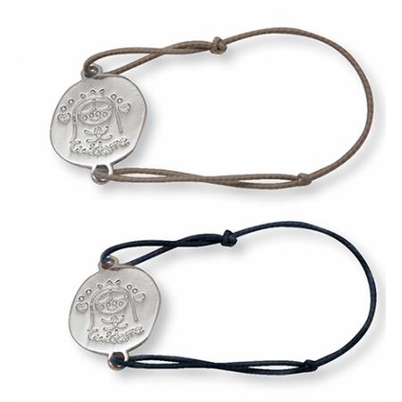 Pulsera ajustable con medalla de Virgen