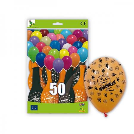 Bolsa con 50 globos para halloween