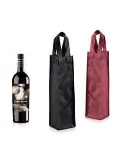 Botellas De Vino Decoradas Para Primera Comunion.Bolsa En Yute Para Botella De Vino Con Ventana Transparente