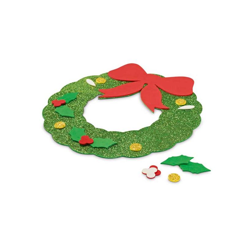 Guirnalda en goma eva con adhesivos para decoraci n en navidad - Decoracion navidad goma eva ...