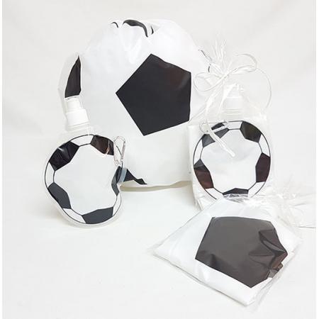 Set eventos mochila y botella balón de fútbol