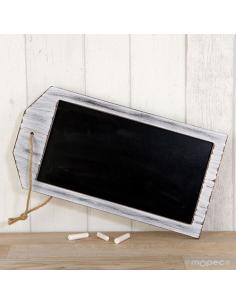Pizarra rectangular para colgar grande