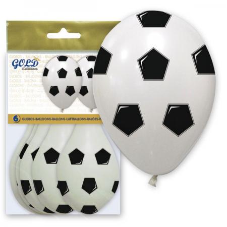 bolsa con globos balón de fútbol