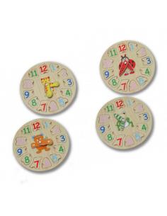Puzzle en madera horas del reloj