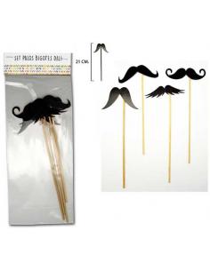 Set postizos para photocall bigotes