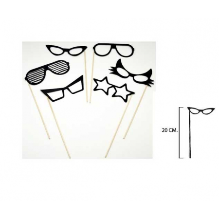 set postizos gafas para photocall