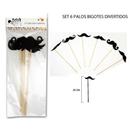 Palitos para photocall bigotes