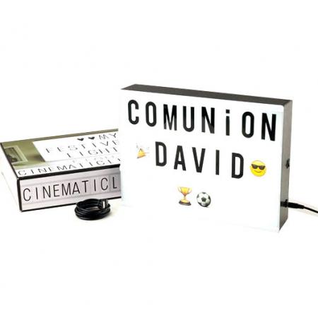 Caja luz led para decoración de Comunión
