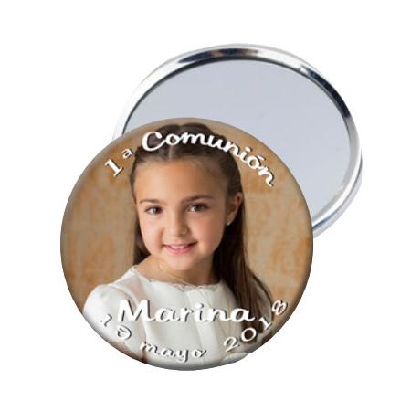Chapa con espejo personalizada con una foto