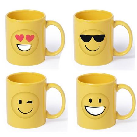 Taza mug smiles o emoticos