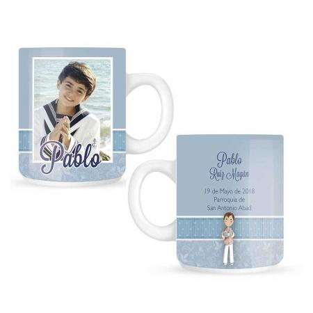 Taza o mug para personalizar con foto detalles primera Comunión