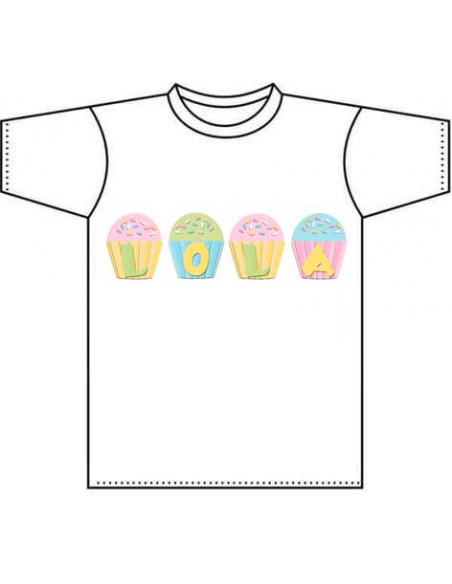 Camisetas diseño capcakes infantiles