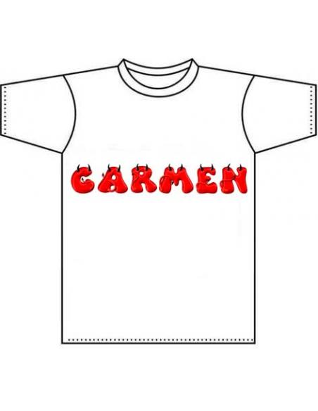 camiseta personalizada infantil con nombres