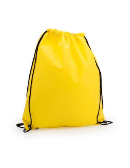 Regalos útiles mochila Non Woven colores lisos amarillo