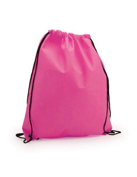 Regalos útiles mochila Non Woven colores lisos rosa