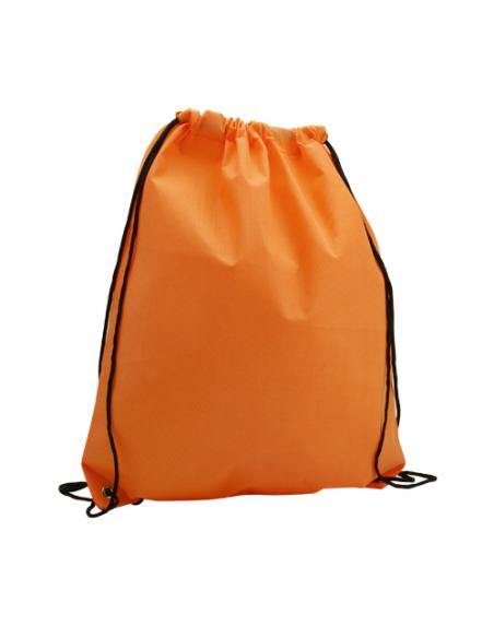 Regalos útiles mochila Non Woven colores lisos naranja