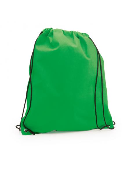 Regalos útiles mochila Non Woven colores lisos verde