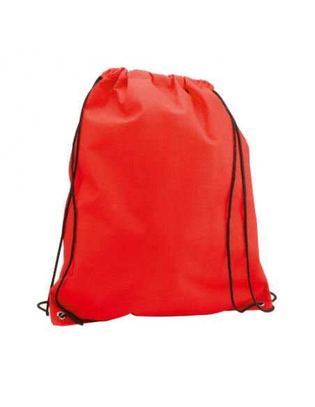 Regalos útiles mochila Non Woven colores lisos roja