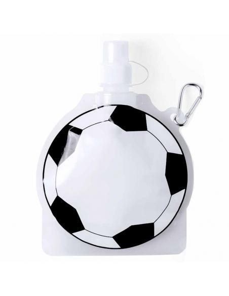 Botella con mosqueton balón fútbol