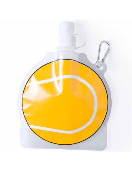 Botella con mosqueton pelota de tenis