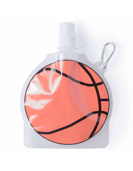 Botella con mosqueton balón de baloncesto.