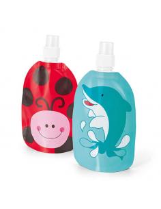Botella infantil, 2 modelos: mariquita o delfín