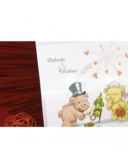Invitacion para boda pareja de ositos
