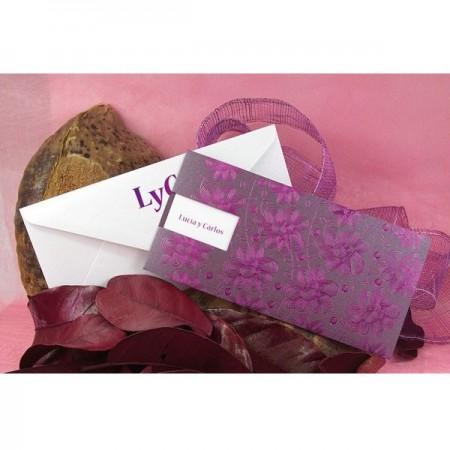 Invitación para boda púrpura
