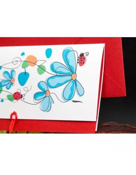 Invitacion de boda con dibujos primavera