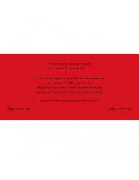 Texto de muestra para la invitacion de boda con dibujos primavera
