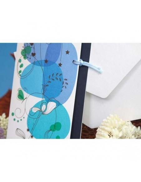 Invitación de boda azul