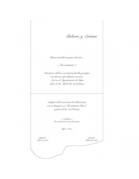 Texto de muestra para la Invitación de boda vintage