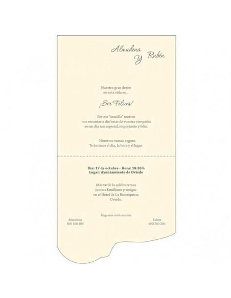 Muestra de texto para la invitación de boda árbol