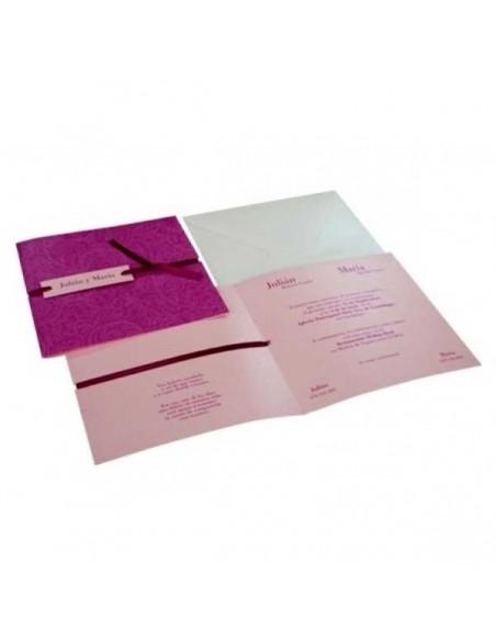 Invitación para boda en tonos rosas